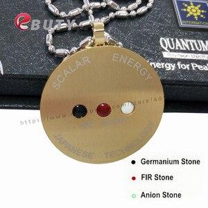 Image 2 - ゴールド量子スカラーエネルギーステンレス鋼ペンダント遠赤外線/マイナスイオン/ゲルマニウムストーンズ、2ピース/ロット送料無料
