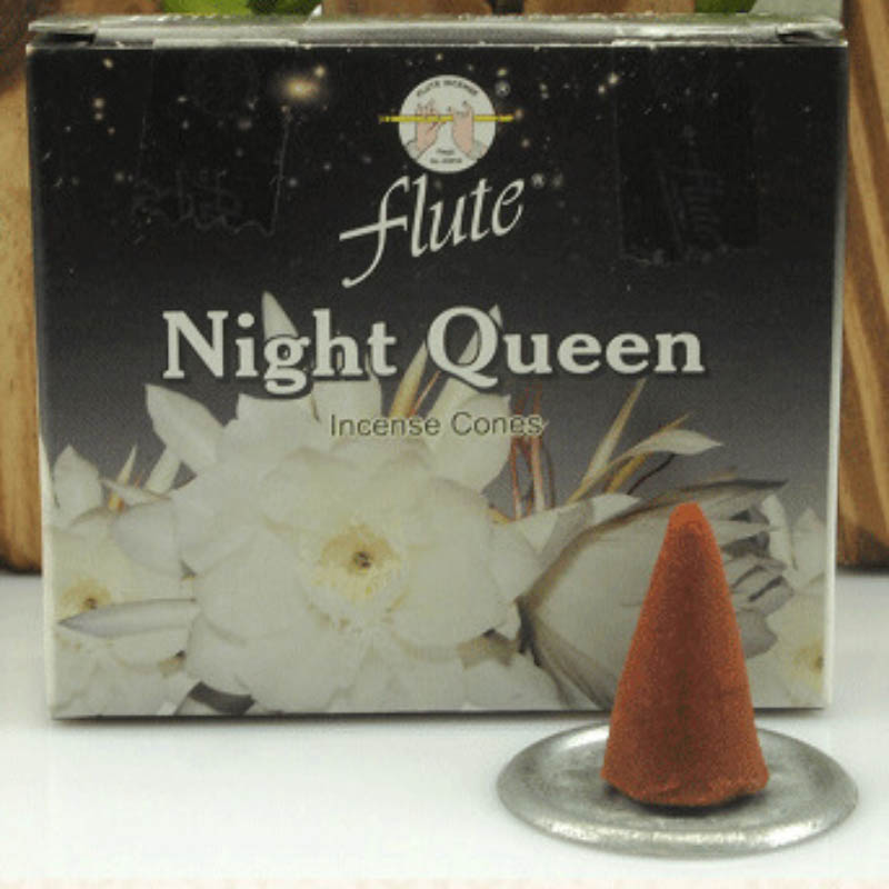 FLUTE 120 Cones Pack Night Queen Aroma Spice Incense Hand Rolled From Indian Light Fragrance Cone For Meditation In Burners