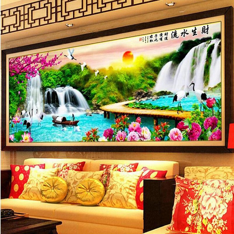 Sala de estar de gran tamaño de la decoración de la casa 5D pintura - Artes, artesanía y costura