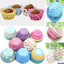 100pcs/set Muffin Cupcake Mold Pcs Lot Paper Cups Greaseproof Liners Baking Muffin Kitchen Cases Colorful Cupcake Baking CT1011