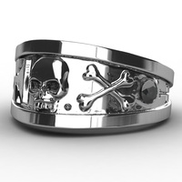 EVBEA Wholesale Classic Skull Ring For Man Metal Man S Punk Style Jewelry 2017 Newest Design