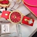 Женские модные часы Miss fox с японским часовым механизмом на кожаном ремешке, кварцевые часы бренда класса люкс с индикацией часов и минут