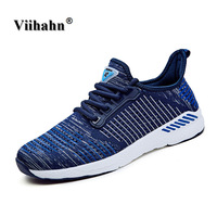 Viihahn Men S Sport Shoes Unisex Lightweight Outdoor Running Athletic Flywire Sneakers Men Walking Mesh Shoes