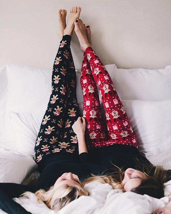 Warm Christmas Pajamas Leggings