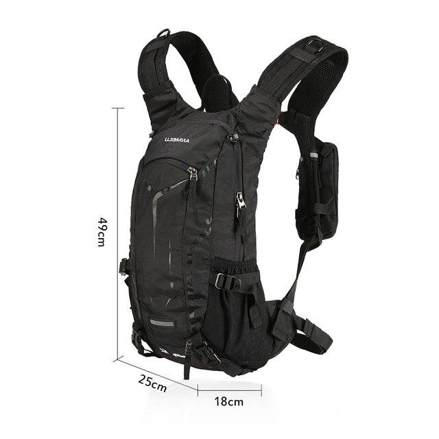 Lixada 18l saco de bicicleta à prova dwaterproof água mtb ciclismo mochila com capa chuva escalada respirável caminhadas acampamento bicicleta hidratação mochila 4