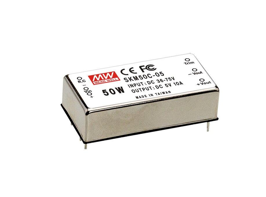 цена на [PowerNex] MEAN WELL original SKM50C-05 5V 10A meanwell SKM50 5V 50W DC-DC Regulated Single Output Converter