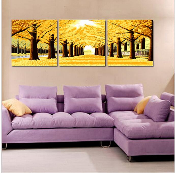 Gold Montreal Tree Scenery Painting Oil Painting On Canvas