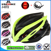 check price KINGBIKE New Arrive Cycling Helmet Women Men Integrally-molded Visor Security taillight Bike Helmet MTB Road Bicycle Helmets Sale Best Quality