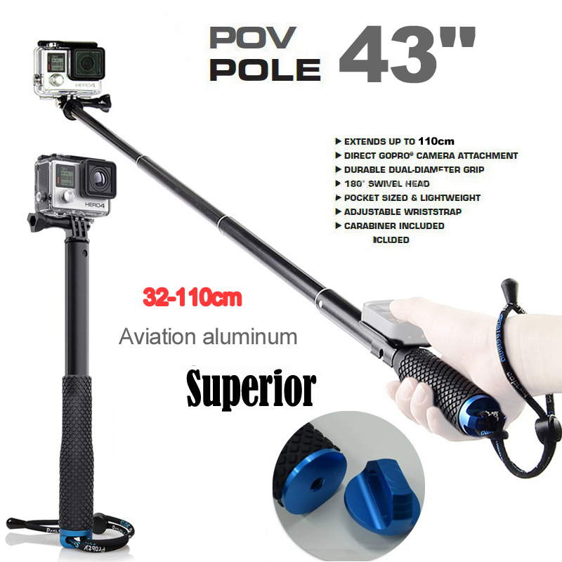 3 2 1 ikacha 19 Extendable Handheld POV Pole Telescopic Monopod Stick WiFi Remote Holder Clip for GoPro Hero 5 4 3