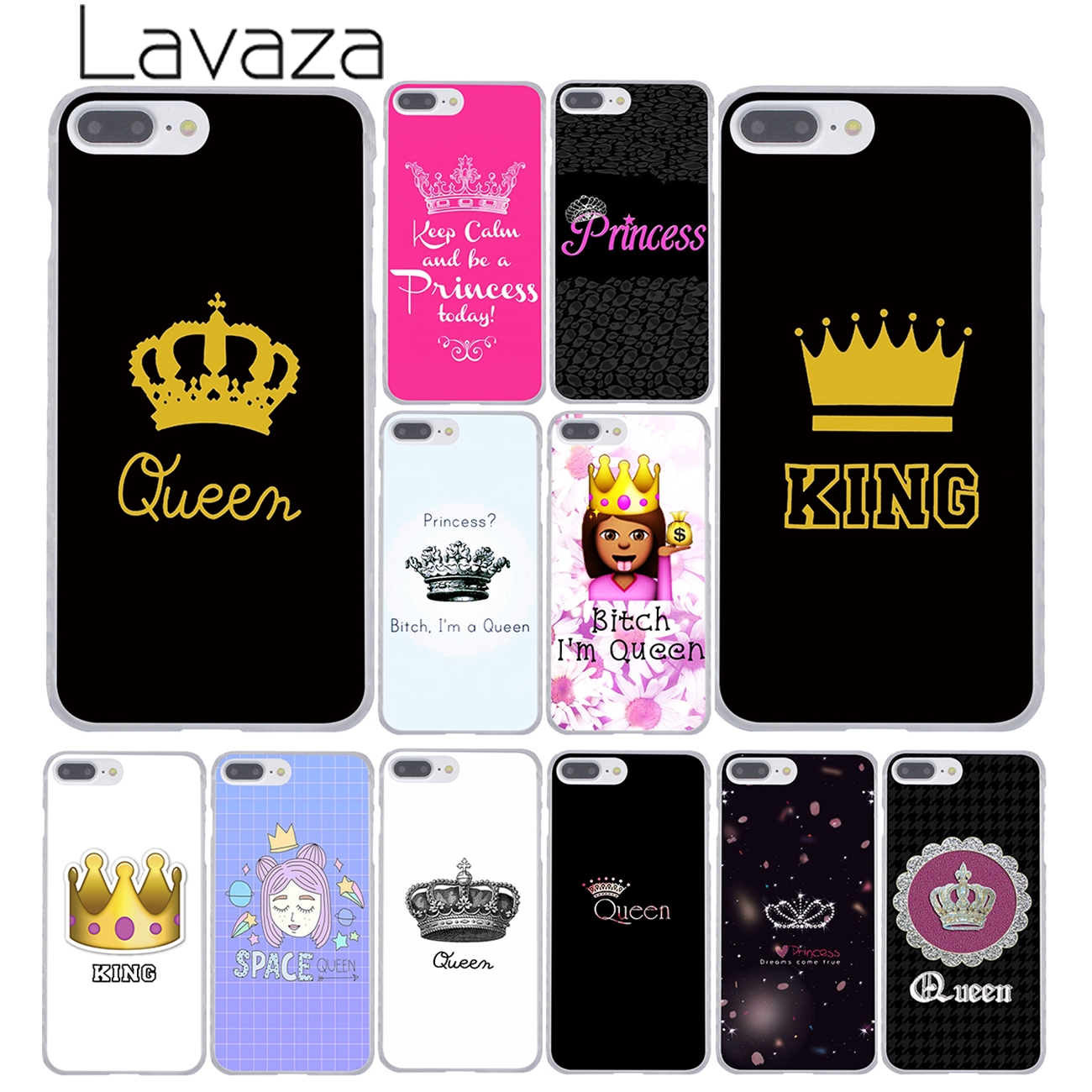 Lavaza Daisy Flower Bitch Jag är Queen Crown King PRINCESS Telefonväska för iPhone XR XS X 11 Pro Max 10 7 8 6 6S 5 5S SE 4S 4 Cover