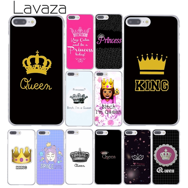 save off 1d66a b9531 US $1.99 22% OFF|Lavaza Daisy Flower Bitch I am Queen crown king PRINCESS  Phone Case for iPhone XR XS Max X 8 7 6 6S Plus 5 5S SE 5C 4S 10 Cover-in  ...