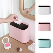 Mini Plastic Wave cover Aanrecht Keuken Desktop Mini Prullenbak Desk Organizer Huishoudelijke Benodigdheden Kleine prullenbak 3.11(China)