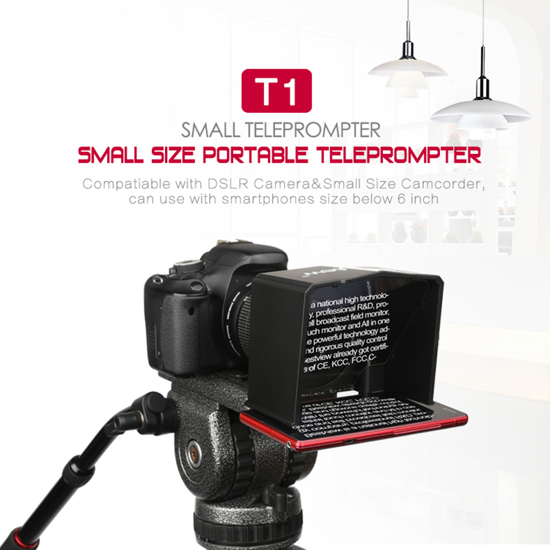 Bestview T1 Smartphone Teleprompter for Canon Nikon Sony Camera Photo Studio DSLR for Youtube Interview Video