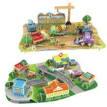Papel do enigma 3D modelo de construção de brinquedos de montar o trabalho de mão jogo cidade em miniatura de mobilização de Engenharia Caminhão do motor do veículo do carro 1 pc