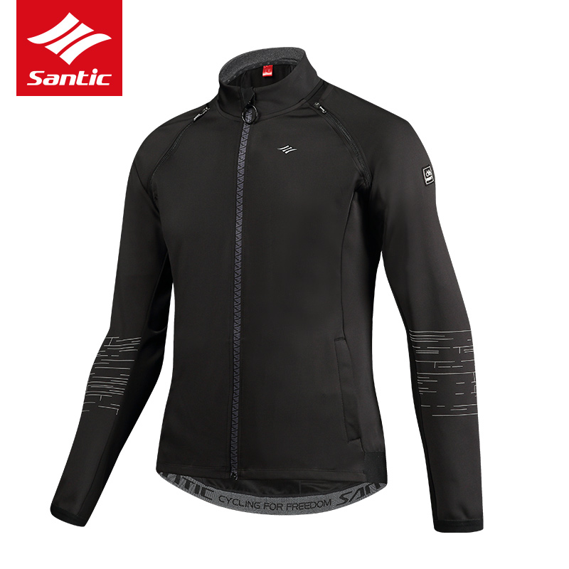 Santic Autumn Winter Men Cycling Jacket Removable Sleeves Fleece Thermal Bike Bicycle Jacket 2017 New Cycling Clothing Ciclismo santic cycling jacket 2018 winter men warm mountain bike bicycle jersey jacket cycling clothing wind coat chaquetas de ciclismo