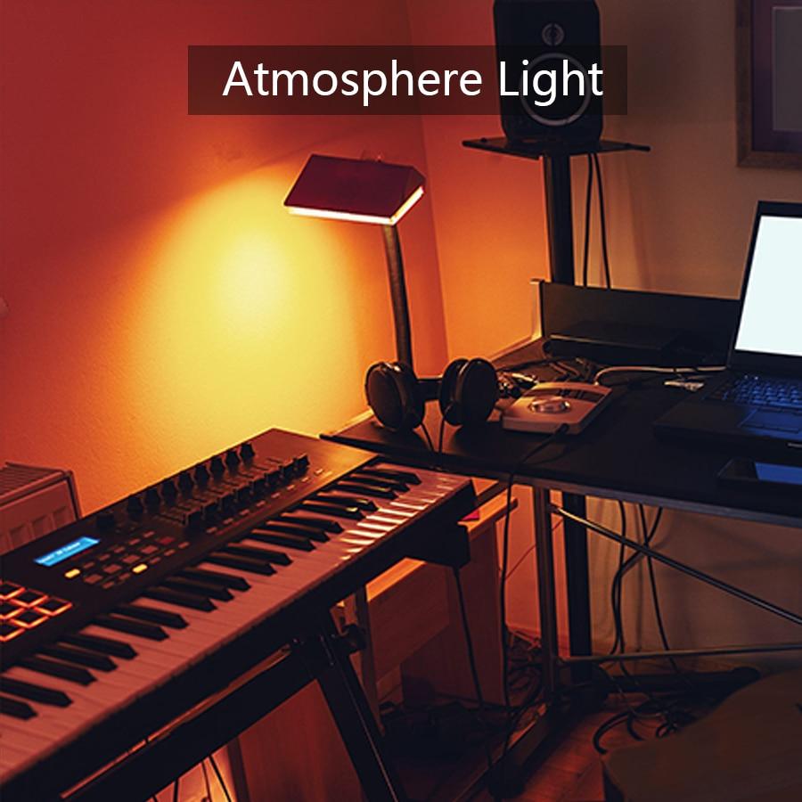 4 Pack E27 умная RGB Bluetooth лампочка лампа 7 Вт динамик беспроводная музыка воспроизведение красочный Диммируемый светодиодный лампочка с дистанционным управлением светильник для праздников - 6