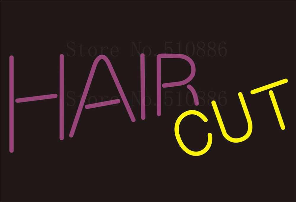 """Benutzerdefinierte NEON Schild Hair Cut Salon Glasrohr Bier Party Bar Club Pub Display Shop Shop Licht Schild Signage 17*14"""""""