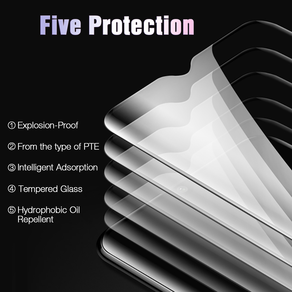 RONICAN 6D Protective Glass For Oneplus 6T Tempered Glass Screen Protector Film For Oneplus 6 5 5T Protective Glass One Plus 6T in Phone Screen Protectors from Cellphones Telecommunications
