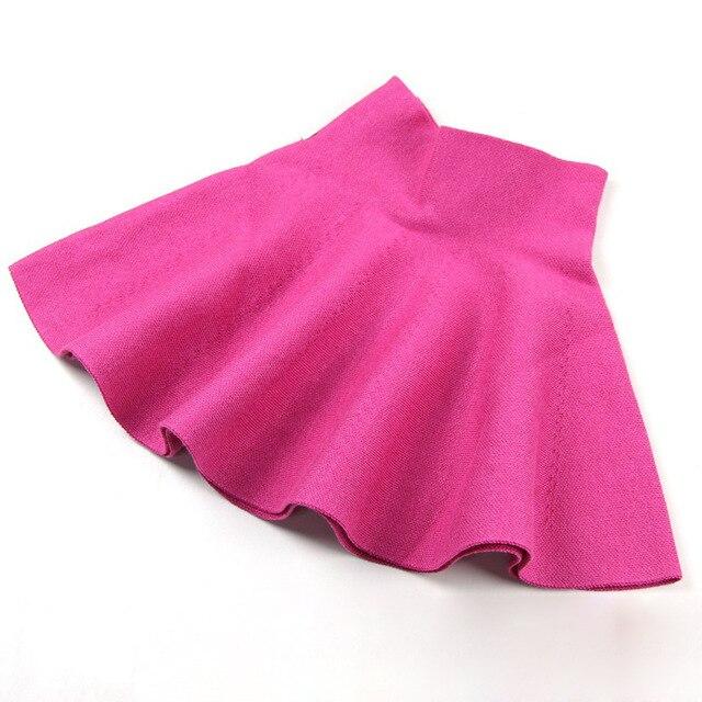 d7461f036 Faldas para Niñas otoño y invierno sólido hecho punto niños falda casual  Bow Tutu bebé Faldas