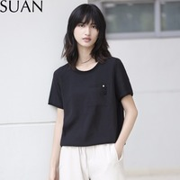 SUAN 2017 Summer T Shirt Women Casual Lady Top Tees Cotton Tshirt Female Brand Clothing T