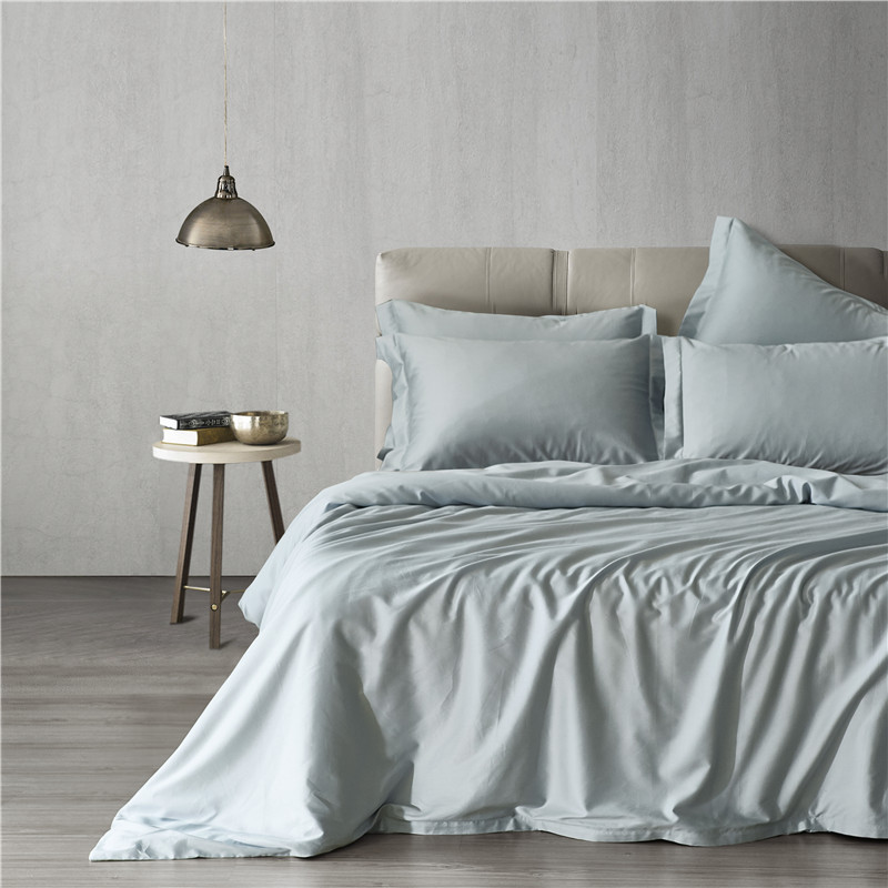 New Bedding Sets Foggy Gray Solid Color 60# Long-Staple Bedding Cotton 3Pcs Duver Quilt Cover Pillowcase  USA King Queen Size New Bedding Sets Foggy Gray Solid Color 60# Long-Staple Bedding Cotton 3Pcs Duver Quilt Cover Pillowcase  USA King Queen Size