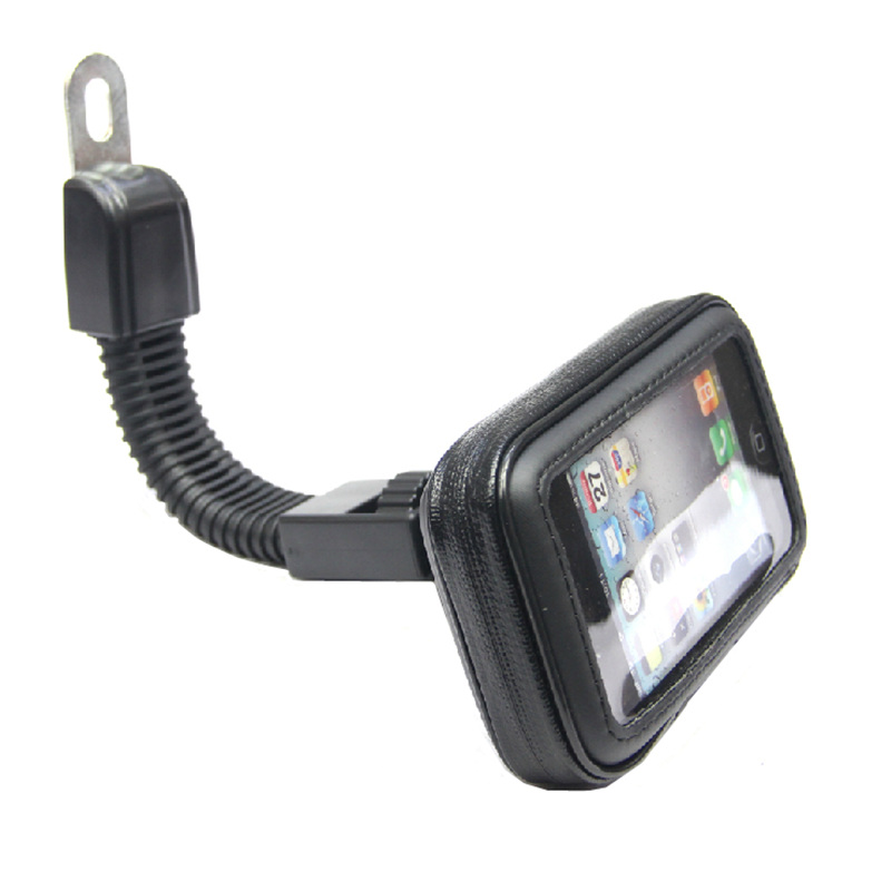 Motorcycle Phone Holder Rearview Mirror Mount Mobile Phone Holder Waterproof Case Bag for iphone 6 6S