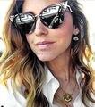 15 pçs/lote iridia óculos cat eye mulheres óculos escuros de grife marca new feminino chifre aro oculos de sol moda retro europeia estilo