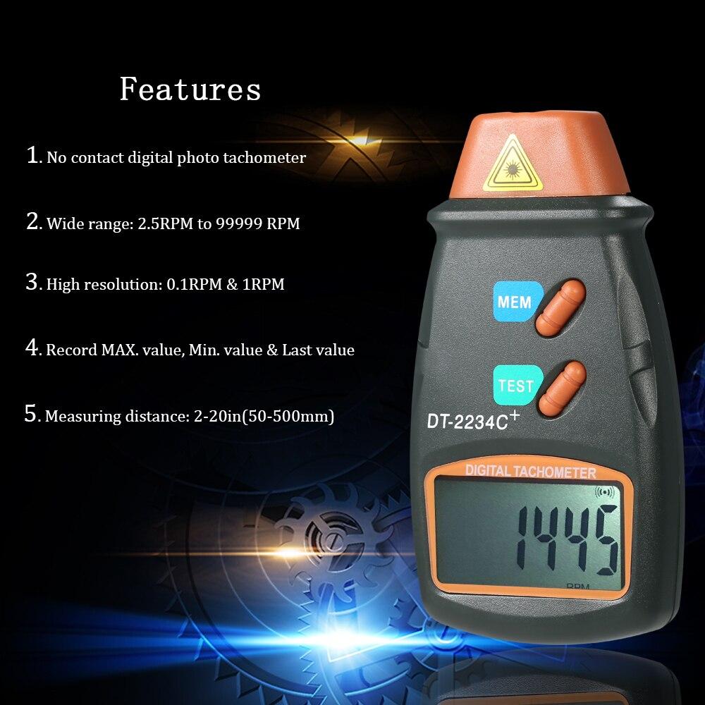 Lista do pacote  1   Digital Tacômetro 3   Fita Reflexiva Marcas 1   Manual  Do Usuário (Inglês) 42e20bc57e