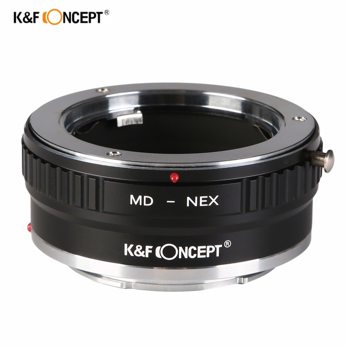 K&F Concept All-copper interface high-precision lens adapter for Minolta MC/MD Mount Lens to Sony NEX NEX-5 7 3 F5 Emount Camera fotga md eosm minolta md mc lens to canon m mount adapter black silver