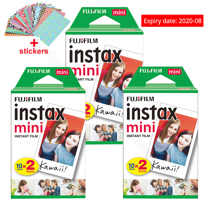 Fuji Fujifilm Instax Mini 9 Film Photo Papers para Instax Mini 9 7s 8 90 70 25 55 Cámara Polariod instantánea Comparta SP-2 SP-1 Impresora