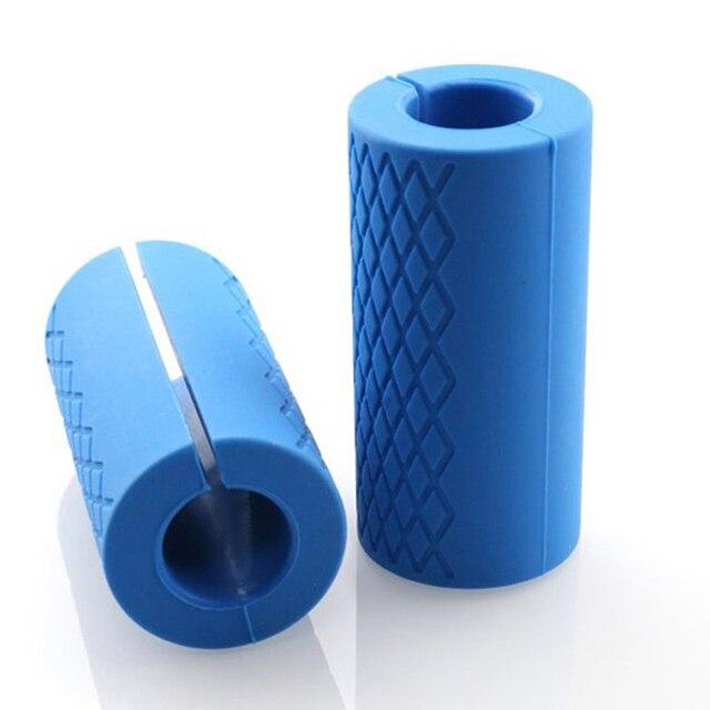 1 çift halter kavrama Bar Pad kolları silikon kaymaz koruma ped Ultimate kol Builder halter yağ kavrama desteği halter