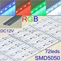 20 pcs/lot 5050 SMD 100cm 72 LEDs white,warm white non-waterproof led tube,LED rigid strip, CPAM Free shipping