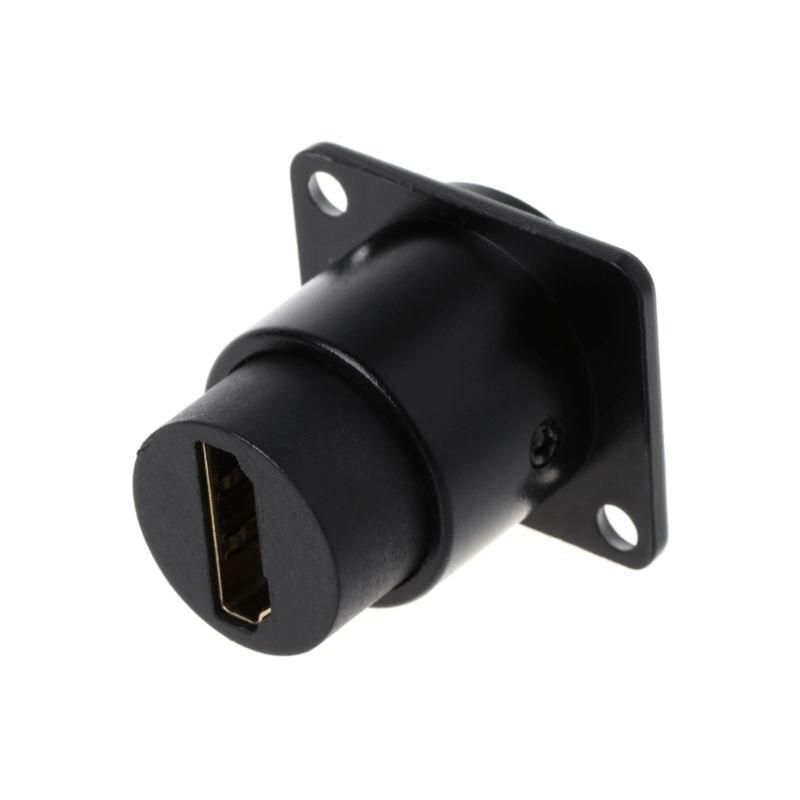 HDMI D-type RJ45 розетка сетевая втулка Шасси Панель Крепление аудио разъем металлический HD авиационный кабель Cat5e Cat6
