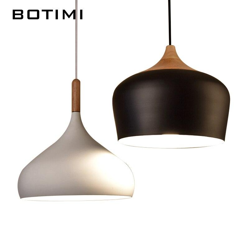 botimi design semplice lampada a sospensione per sala da pranzo cucina lampadario metallo dellannata