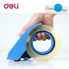Deli 2PCS Tape Dispenser Manual Sealing Device Cutter Baler Carton Sealer Width 48mm Packager Cutting Machine 801