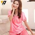 Silk Satin Pajamas Women Pyjamas Set Sleepwear Lounge Wear L,XL,XXL,XXXL  Plus Size Summer Elegant Loungewear