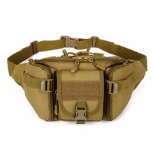 Check Price Molle Tactical Men Waist Pack Fanny BELT Climb Bum bag Military Equipment outdoor sport bag Outdoor Climbing Bag