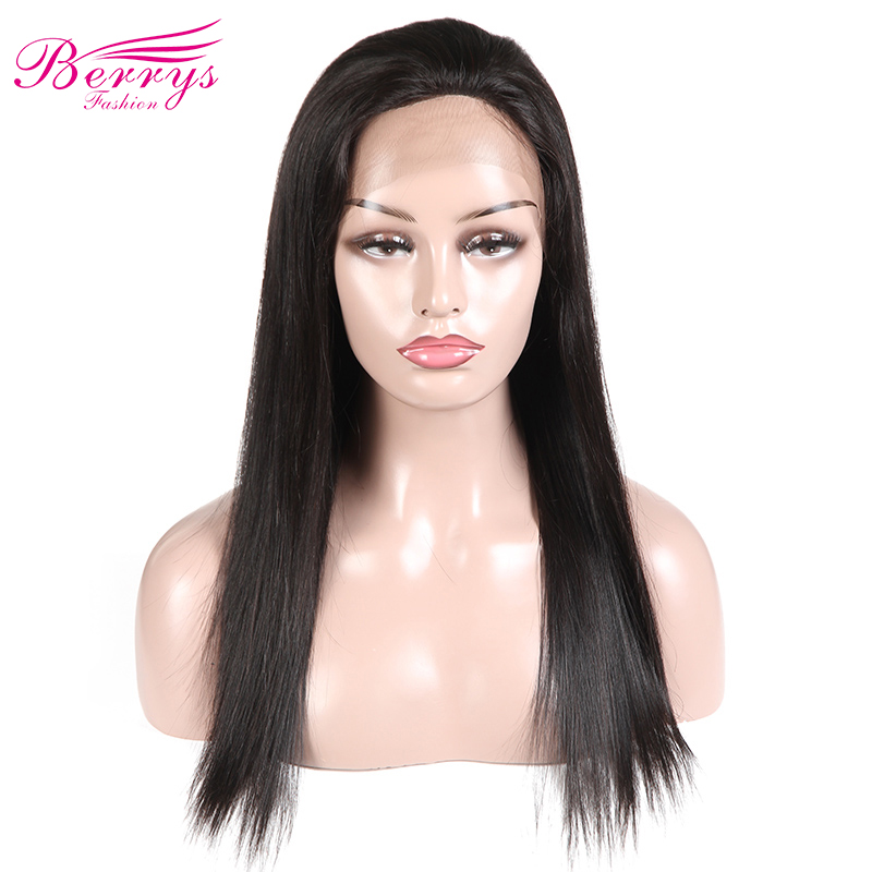 Human-Hair Berrys Straight Fashion Full-Lace Wigs Peruvian Hairline-Free-Part Natural