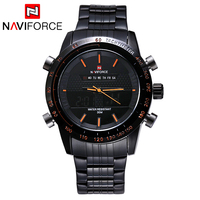 NAVIFORCE 2017 New Luxury Brand Dual Time Clock Fashion Full Stainless Steel Men S Watch Army