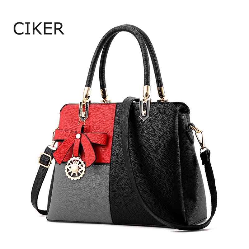 CIKER Bow Pendant Women Leather Handbag Luxury Fashion Bags Handbags Women Famous Brands Bolsos Feminina Women