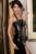 Mulheres de Couro Preto Corset Steampunk Corset Zíper Fichário Peito Gótico do Espartilho BustIer Cintura Cincher Controle calca feminina 5269
