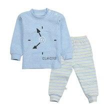 Детская верхняя одежда осень 2 компл./лот мультфильм для досуга с длинными рукавами футболки+ брюки для маленьких девочек Одежда для мальчиков Дети Детские костюмы