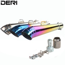 DERI Universal Motorcycle Exhaust Modified off-road Muffler DB Killer for GP Pipe Slip-On z800 cbr300r Z1000