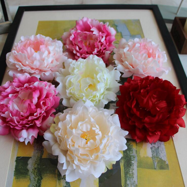 Peony flower Heads Silk Peony Flowers 15cm Large Peonies Wholesale 100 artificial flowers for Wedding Backdrops