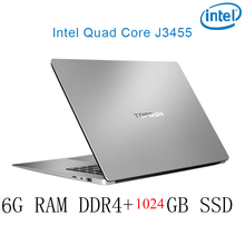 P2-12 6G RAM 1024G SSD Intel Celeron J3455 Gaming laptop notebook computer keyboard and OS language available for choose
