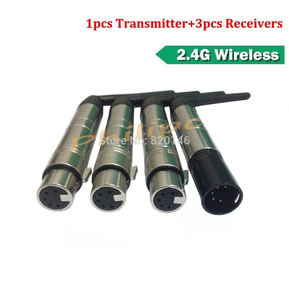 DHL Doprava zdarma 5 pinů DMX512 Wireless System Receiver Transmitter DMX Dfi DJ 2.4G DMX Controller