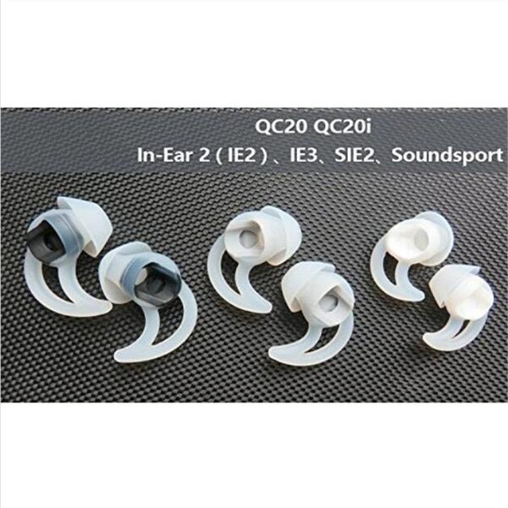 HOT 3 pairs (S+M+L) White Ear Plug Soft Replacement Ear Bud Tips For BOSE QC20i QC20 Quiet Comfort Earphones Headphone