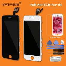 YWEWBJH 10Pcs Lot Test AAA For iPhone 6 Screen Full Set With Front camera Digitizer Assembly Replacement Wihtout Home Button