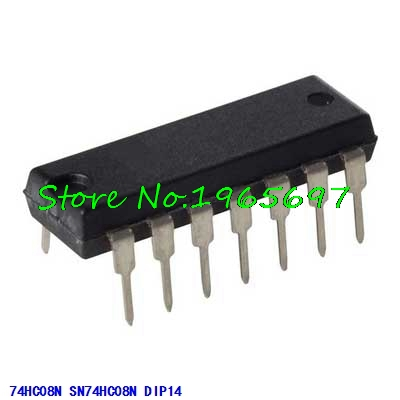 10pcs/lot SN74HC08N 74HC08N 74HC08 DIP-14 In Stock