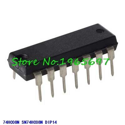10pcs/lot SN74HC08N 74HC08N 74HC08 DIP-14 In Stock